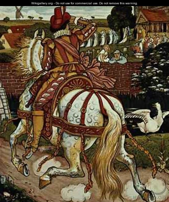 Margerys brother returns from far off lands from Little Goody Two Shoes - Walter Crane