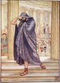 He left the assembly hiding his face in his cloak - Walter Crane