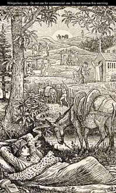 Frontispiece for Travels with a Donkey in the Cevennes - Walter Crane