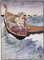 For two days and two nights the boat was tossed hither and thither - Walter Crane
