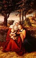 The Virgin Mary with Saint Anne holding the infant Jesus - Lucas The Elder Cranach