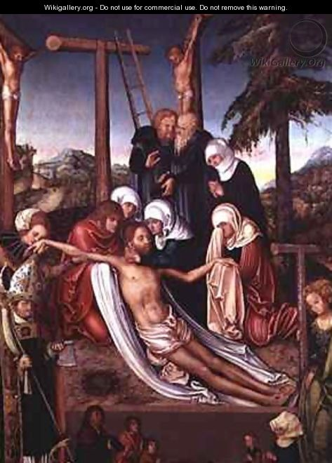 The Lamentation Over the Dead Christ - Lucas The Elder Cranach