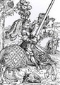 St George on Horseback - Lucas The Elder Cranach