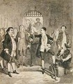 Jack Sheppards irons knocked off in the Stone Hall at Newgate - George Cruikshank I