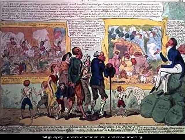A Strong Proof of the Flourishing State of the Country exemplified in the Proposed Emigration to the Cape of Good Hope - George Cruikshank I