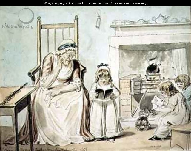 The Dame School - George Cruikshank I