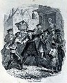 The Doctor seizing Lawyer Murphy - George Cruikshank I
