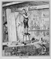 Jack carves his name on a beam in the shop of his former employer - George Cruikshank I