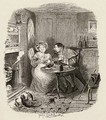 Mr Bumble and Mrs Corney taking tea - George Cruikshank I