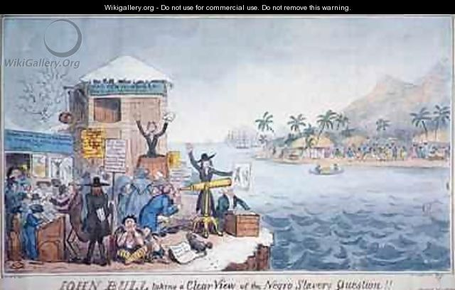 John Bull Taking a Clear View of the Negro Slavery Question - George Cruikshank I