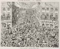 Piccadilly during the Great Exhibition - George Cruikshank I