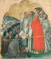 St Bernard Tolomeo 1272-1348 giving the Rule to his Order - Simone dei Crocifissi