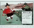 Rule XV When a ball has to be dropped the player shall drop it - Charles Crombie