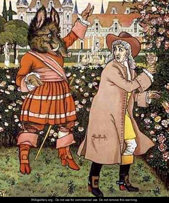 Illustration from Beauty and the Beast - Walter Crane