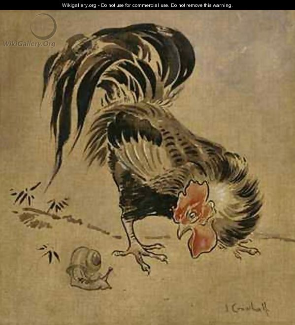 Spanish Cock and Snail - Joseph Crawhall