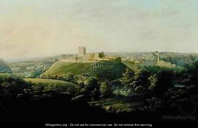 An Extensive View Of Richmond Yorkshire - George Cuitt