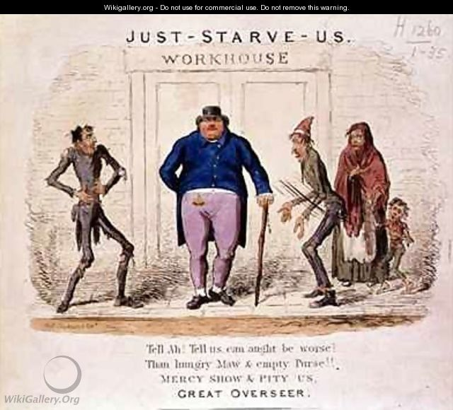 Just Starve Us Tell Ah Tell Us Can Aught be Worse Than Hungry Maw and Empty Purse Mercy Show and Pity Us Great Overseer - Isaac Robert Cruikshank