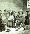 Jack in Newgate Ward having portraits taken by Sir James Thornhill and William Hogarth - George Cruikshank I