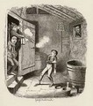 The Burglary from The Adventures of Oliver Twist - George Cruikshank I