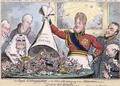 The Royal Extinguisher or the King of Brobdingnag and the Lilliputians - G. and I. Cruikshank