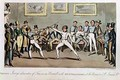 Fencing Jerrys admiration of Tom in an Assault with Mr OShaunessy at the rooms in St Jamess Street - I. Robert and George Cruikshank