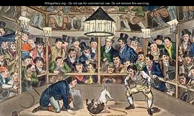 Tom and Jerry sporting their blunt on the phenomenon Monkey Jacco Macacco at the Westminster Pit - I. Robert and George Cruikshank
