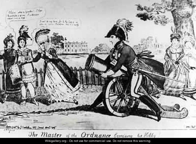 The Master of the Ordnance exercising his Hobby - Isaac Cruikshank