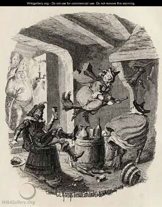 Grandpapas Story or The Witches Frolic - George Cruikshank I
