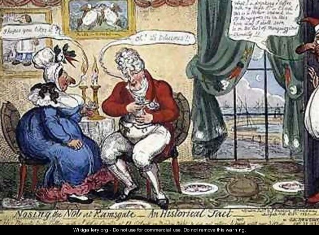 Nosing the Nob at Ramsgate - George Cruikshank I