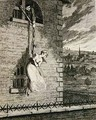 Jack escaping from Newgate Ward with his wife Elizabeth Lyon - George Cruikshank I