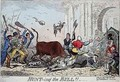Hunting the Bull - George Cruikshank I