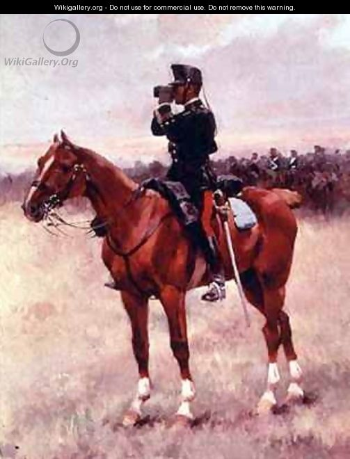 The Spanish Cavalry Officer - Josep Cusachs y Cusachs