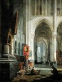 Interior of St Omer Cathedral - Hippolyte Joseph Cuvelier