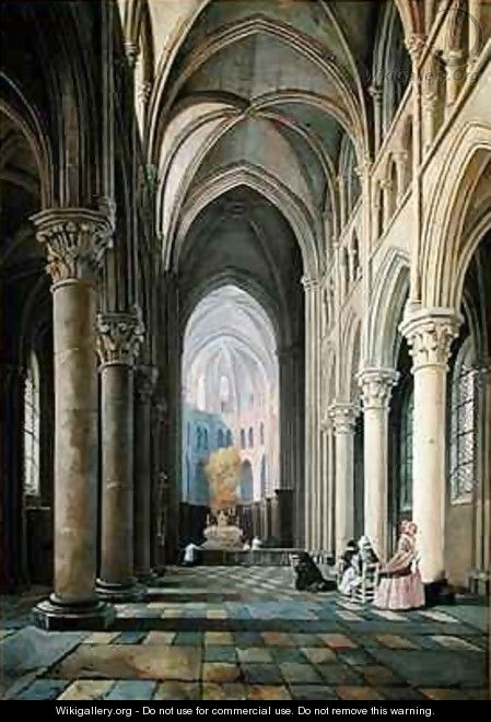 Interior of a Church - Hippolyte Joseph Cuvelier