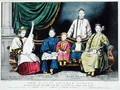 Poster advertising The Living Chinese Family - Nathaniel Currier