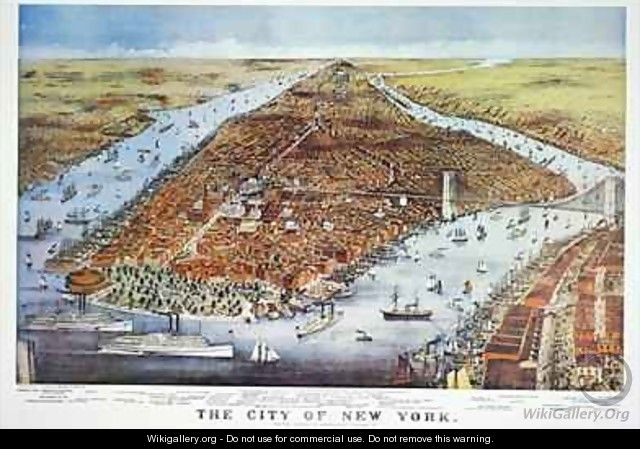 City of New York - (after) Currier, N. & Ives, J.M.