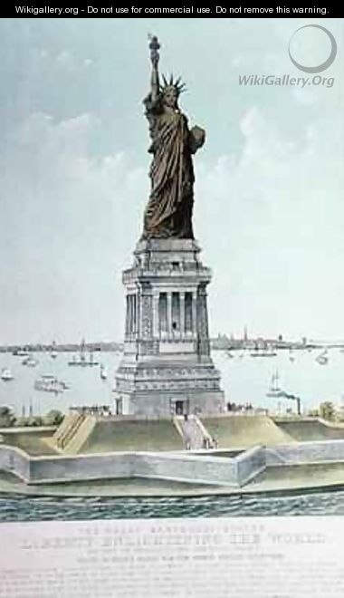 The Great Bartholdi Statue Liberty Enlightening the World - Currier