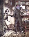 Scrooge and Bob Cratchit, from Dickens A Christmas Carol - Arthur Rackham