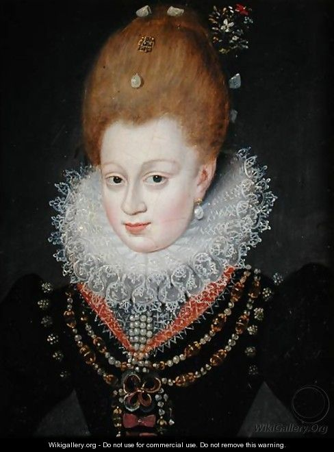 Portrait presumed to be Gabrielle dEstrees 1573-1599 - Francois, the Elder Quesnel