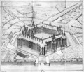 Reconstruction of Theleme Abbey, illustration from Rabelais et larchitecture de la Renaissance by Charles Lenormant 1802-59, Paris, published 1840 - Questel
