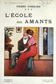 Cover for a novel LEcole des Amants by Pierre Corrard, published Paris, before 1914 - Quint