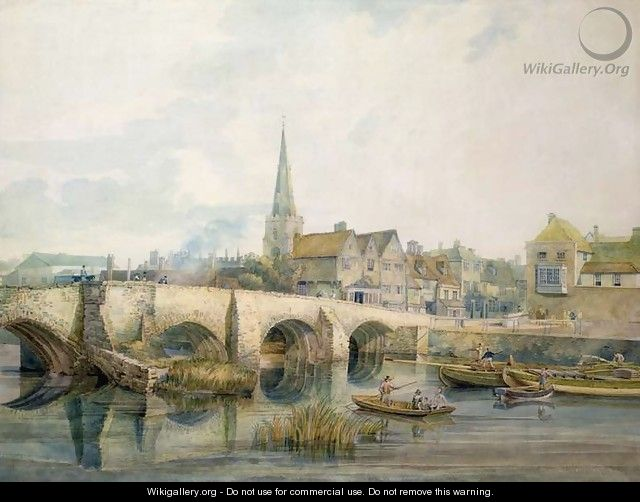 Bedford Bridge, Bedford - William Henry Pyne