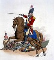 General Officer on Horseback, from Costume of Great Britain, published by William Miller, 1805 - William Henry Pyne