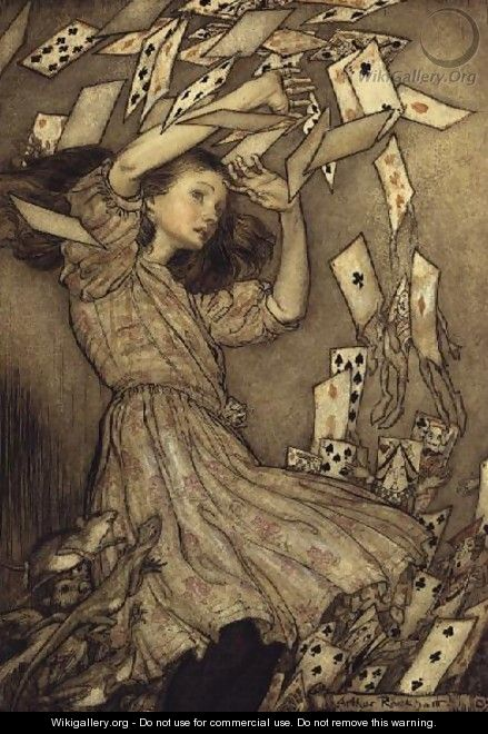 Illustration from Alices Adventures in Wonderland by Lewis Carroll 1832-98 1907 - Arthur Rackham