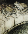The Frogs and the Well, illustration from Aesops Fables, published 1912 - Arthur Rackham