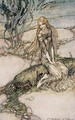 Undine, illustration from the book by Baron Friedrich de la Motte Fouque 1777-1843 1909 - Arthur Rackham