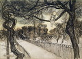 Peter Pan on a Branch, scene from Peter Pan in Kensington Gardens by J.M Barrie, 1912 - Arthur Rackham