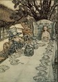 The Mad Hatters Tea Party, illustration to Alices Adventures in Wonderland by Lewis Carroll 1832-98, 1907 - Arthur Rackham