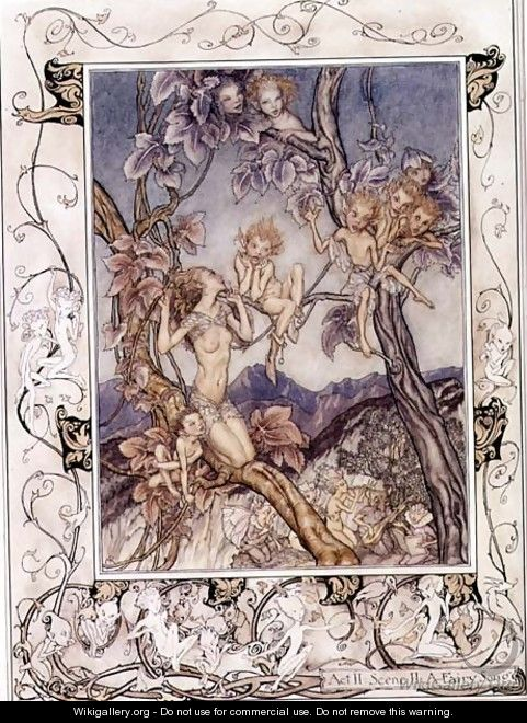 A Fairy Song, from A Midsummer Nights Dream, 1908 - Arthur Rackham