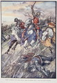 They Rushed Into The Fray Like Madmen Bent Upon Sudden Death, plate from The Story of France, by Mary MacGregor, 1920 - (after) Rainey, William